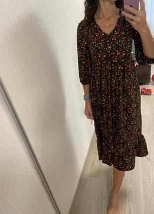 Ярусное платье бохо оверсайз