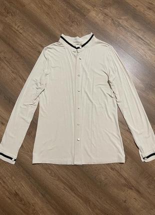 Домашняя одежда, кофта, рубашка, коттон+эластин, трикотаж, очень-очень мягкая и приятная к телу, хорошо тянется,цвет нежно персиковый, на размер xs,s.