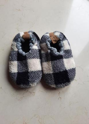 Теплые тапки-носочки тапочки на меху pepco 24-25 р.