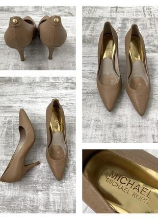 Кожаные туфли лодочки michael kors натуральная кожа сафьяна