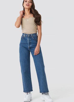 Качественные джинсы levi's premium ribcage straight