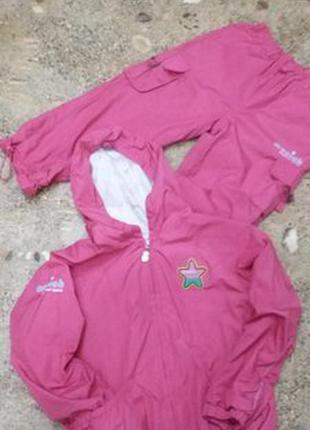 Розовый комплект на девочку mooich курточка штанишки до 130 см
