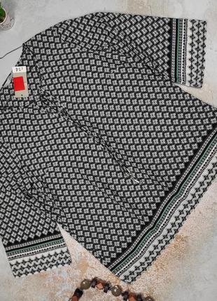 Блуза новая красивая в орнамент george uk 12/40/m