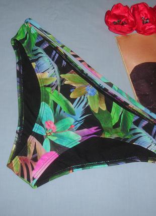 Низ от купальника женские плавки размер 48 / 14 черный бикини тропики