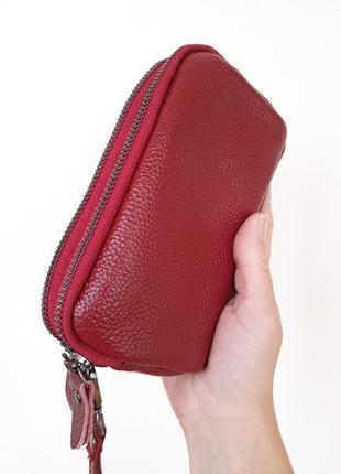 Кошелек женский косметичка женская маленькая сумочка клатч бордо