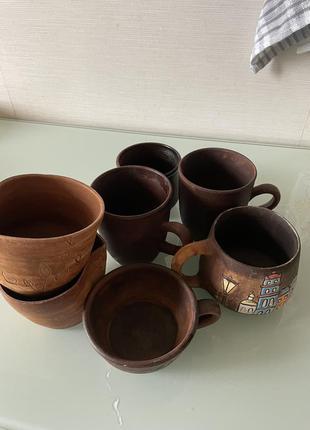 Чашки глянянные