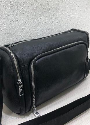 New🖤универсальная женская кожаная сумка на каждый день чёрная сумка на плечо из кожи жіноча вмістка сумка натурвльна шкіра