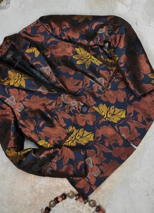Пиджак жакет стильный в гобеленовый принт большого размера next uk 18/46/xxl
