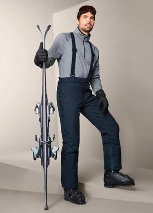 Шикарные мужские функциональные лыжные брюки, штаны ecorepel® от tcm tchibo (чибо), германия, xl-2xl