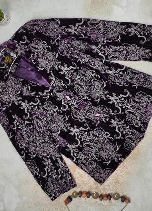 Пиджак жакет шелковый бархатный вышивка паетки s-m