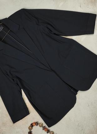 Пиджак жакет синий стрейчевые стильный большого размера marks&spencer uk 20/48/3xl