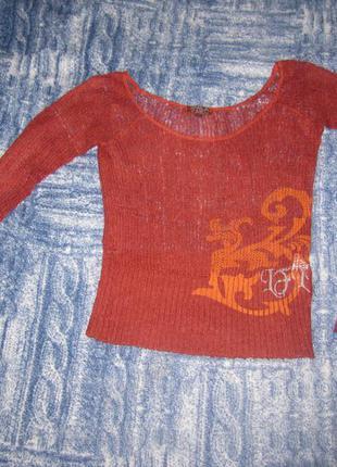 Классная  стильная кофточка-свитерок life line