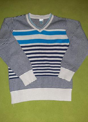 Полосатый свитерок на мальчика gee jay
