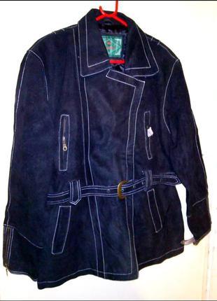 Кожаная куртка под замш/нубук (натуральная кожа)