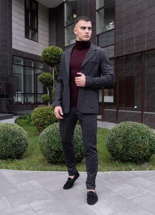 Стильный мужской костюм современного кроя