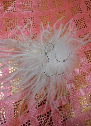 Гребешок  заколка для волос перья винтажный
