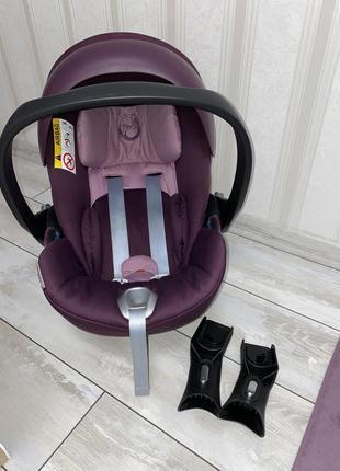 Автокресло cybex cloud q (mystic pink purple) сайбекс детское кресло