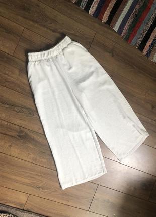 Кюлоты свободные широкие укорённые штаны креп шифон