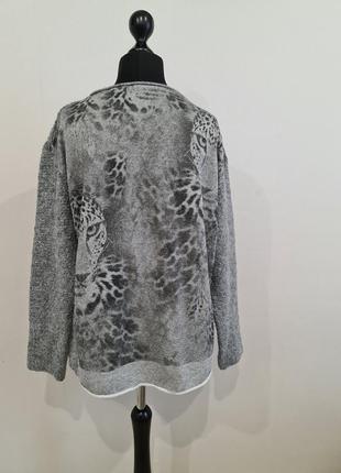 Серый свитер на спине с тигром marc cain