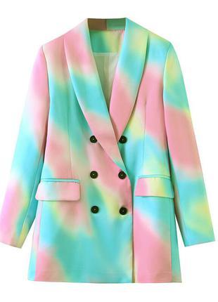 Блейзер женский с ярким принтом color shine