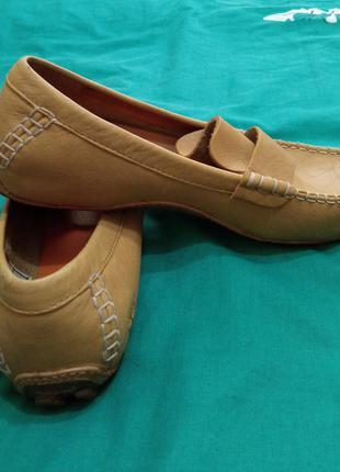 Кожанные туфли, timberland оригинал.