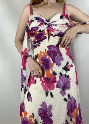 Шовкове вінтажне плаття-la perla by marves vintage