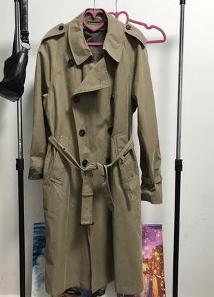 Актуальный бомбезный тёплый плащ пальто тренч