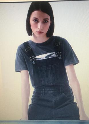 Комбинезон джинсовый-цвет-графит-батал-20 размер