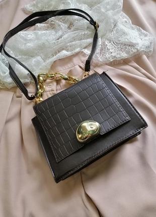 Последняя сумка женская темно коричневая