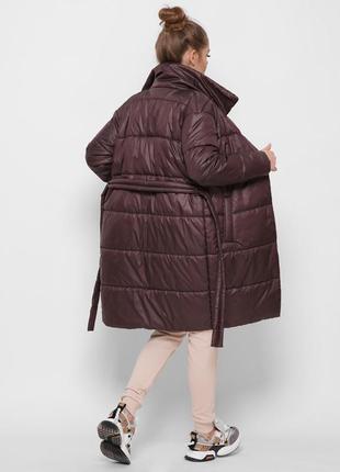 Демісезонна куртка пальто з поясом
