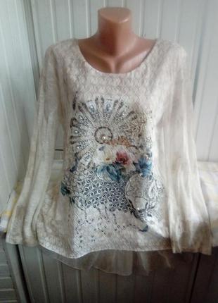Супер!!итальянская вискозная блуза туника