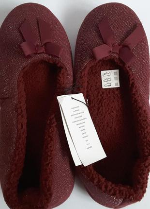 Эксклюзивные тапочки балетки, 42 размер,kiabi, франция, обувь