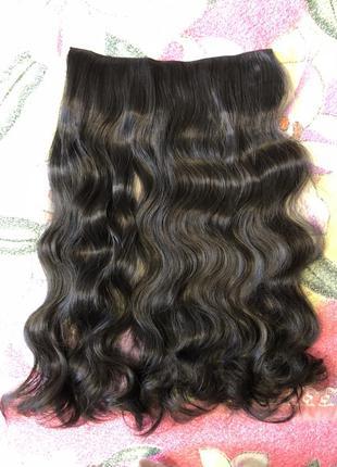 Трессы канекалон волосы на заколках чёрные недорого