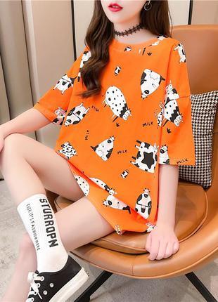 Женская футболка футболочка оверсайз распродажа цвета в ассортименте + фото  в живую