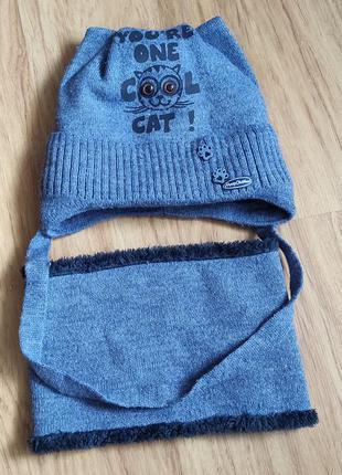 Дитяча шапка з хомутом