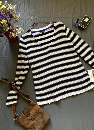 H&m свитер коттоновый в полоску, свитер h&m