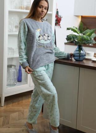 Тёплая махровая пижама для дома