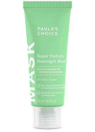 Ночная увлажняющая маска 15ml paula's choice - super hydrate overnight mask