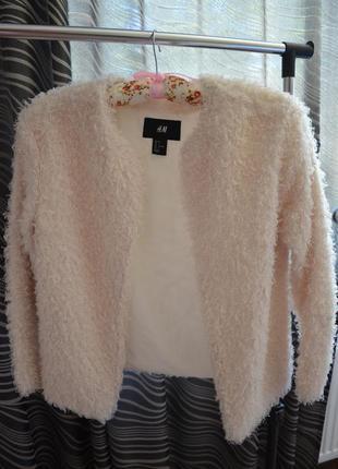 Актуальный пиджак мини-шубка цвет айвори