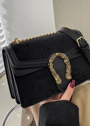 Женская мини сумка с подковой/маленькая женская сумка через плечо.
