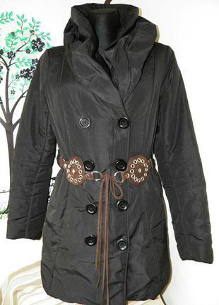 Куртка пальто женское демисезонное под пояс
