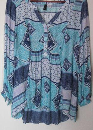 Яркая блуза из модала в этностиле