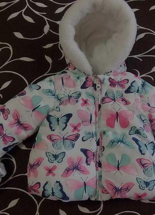 Куртка еврозима на девочку 6-9 месяцев, фирмы george