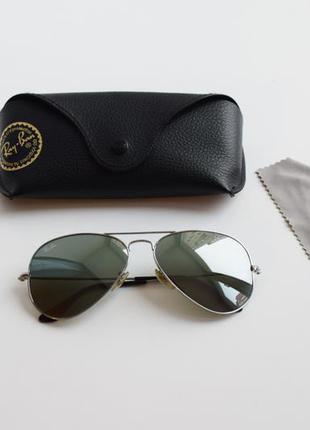 Солнцезащитные очки, окуляри ray-ban 3025 w3277, aviator, оригинал.
