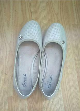 Балетки туфли натуральная кожа