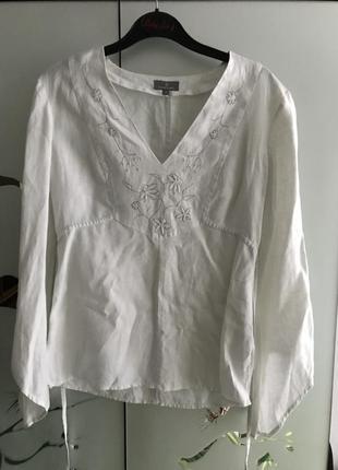 Блуза лён naf naf