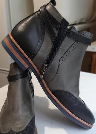 Ботинки женские натуральная кожа италия осенние