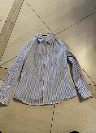 Рубашка классическая в полоску