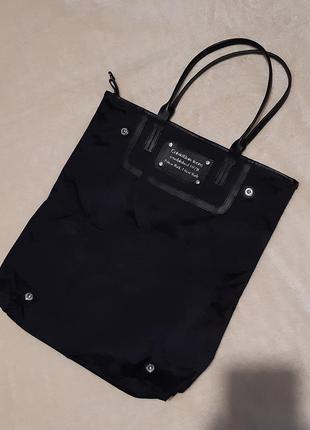 Чёрная сумка шоппер calvin klein jeans