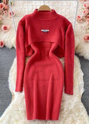 Комплект плаття +накидка